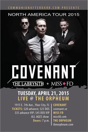 Covenant 2015 Tour - Miss FD
