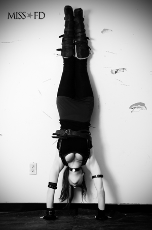 Miss FD Industrial Music - Handstand photo by Sam Guss